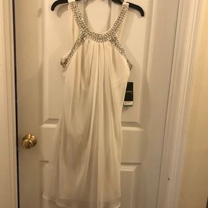 White Dress with Beaded Neckline!